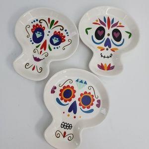 Sugar Skull Day Of The Dead Ceramic Plates 3